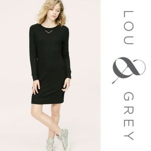 Lou & Grey signature soft black shift dress